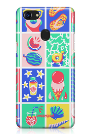 """Beach Pattern"" Oppo F7 Printed Back Cover Case"