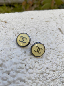 Chanel Glossy Button Earrings