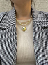 Load image into Gallery viewer, Chanel Gold Hammered Necklace