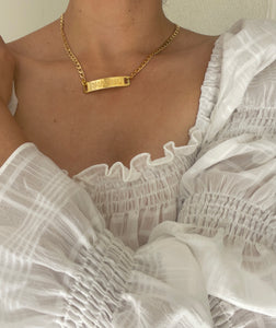 Chanel Gold Bar Necklace