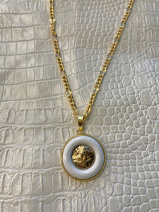 Chanel White & Gold Necklace