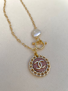Chanel Mocha Toggle Clasp Necklace