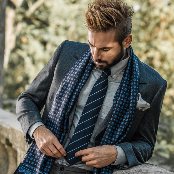 Italian Silk Reversible Men's Scarves