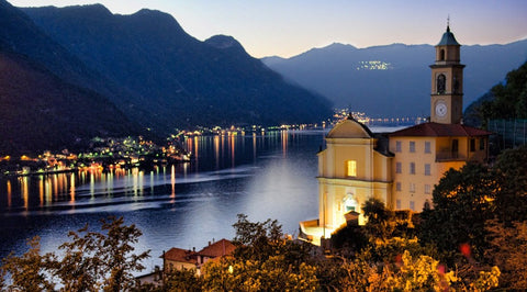 Lake Como where our scarves are made