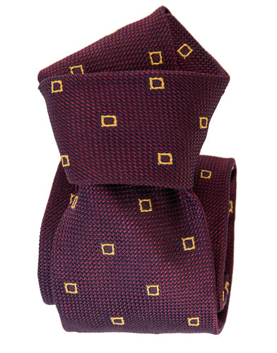 Luxury burgundy silk grenadine tie from Italy