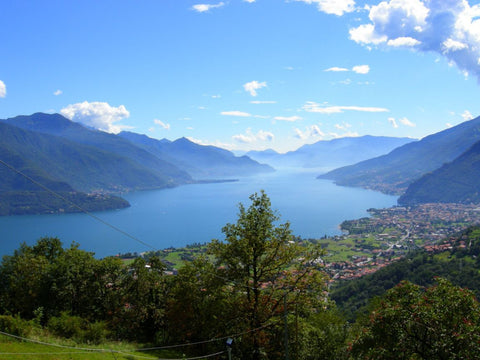 Lake Como, where Elizabetta silk scarves are made