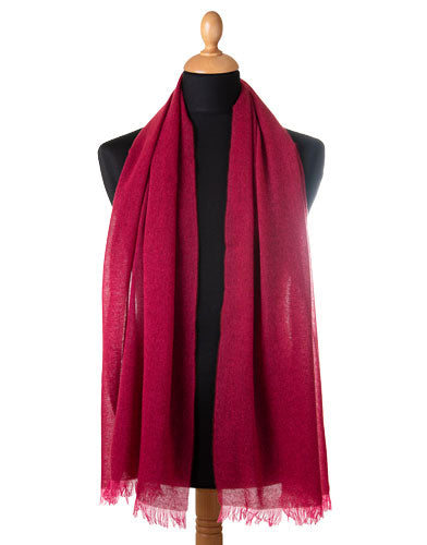 red cashmere scarf made in Italy