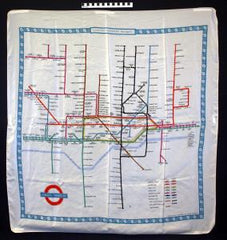 London Tube Map Scarf from London Underground Museum
