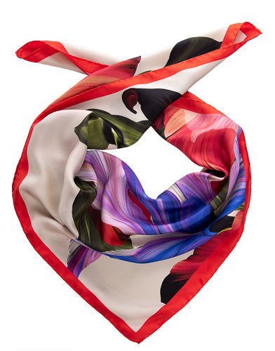 womens floral foulard made in italy