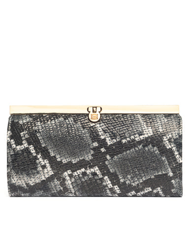 Snake print wallet from Italy