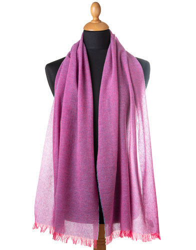 pink cashmere scarf made in Italy