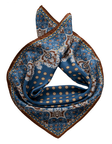 blue mens neckerchief made in italy