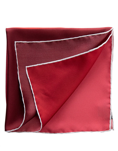 hand rolled italian red pocket square