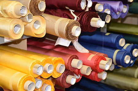 silk fabric rolls that are made in Italy