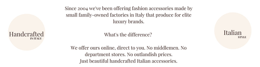 Italian handcrafted fashion accessories