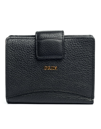 italian  womens black leather wallet
