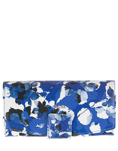 blue leather wallet made in italy