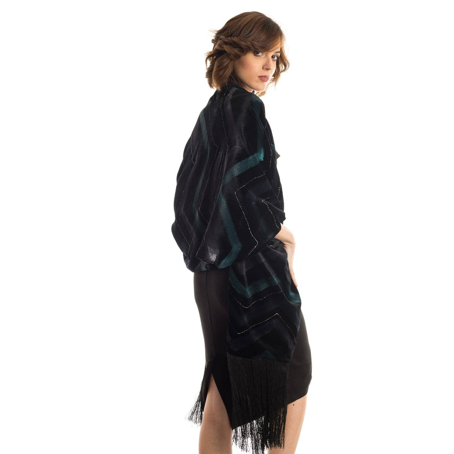 Black Velvet Evening Wrap