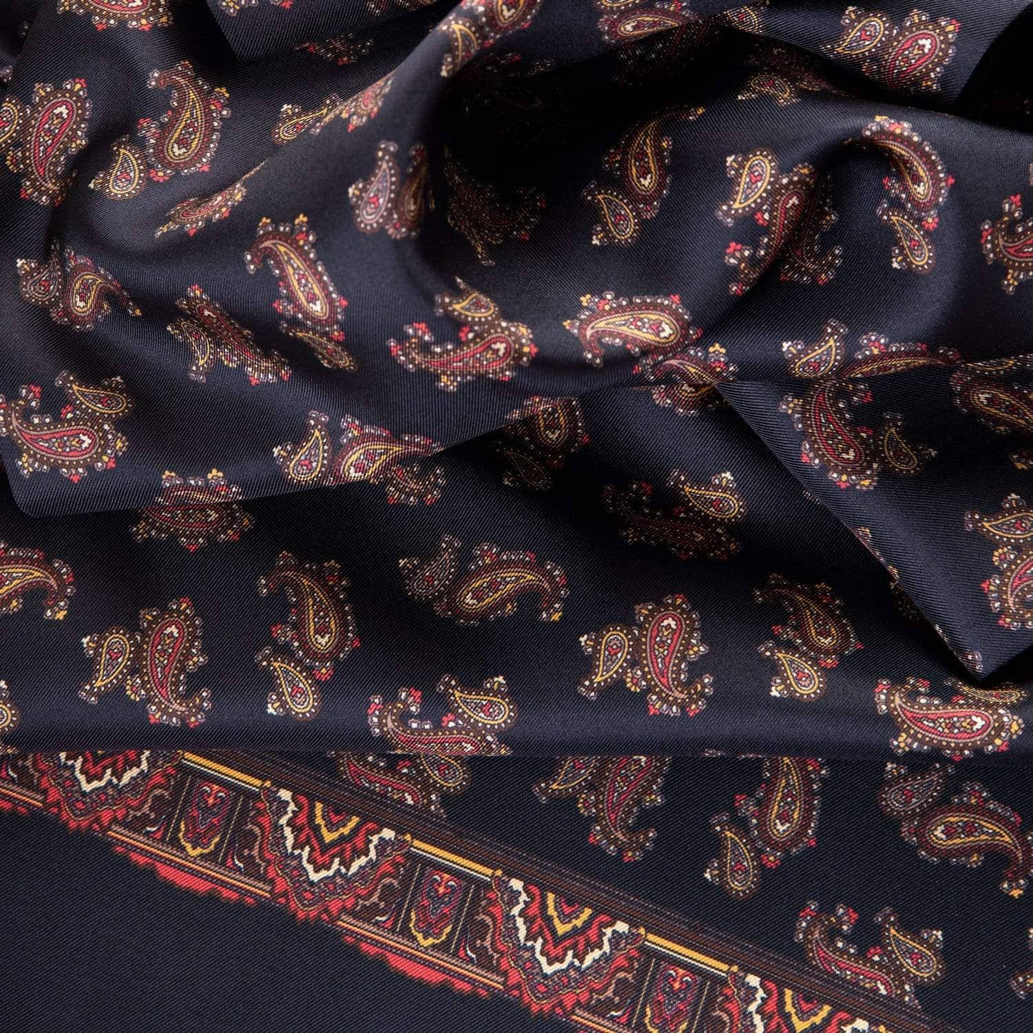 black paisley scarf for men