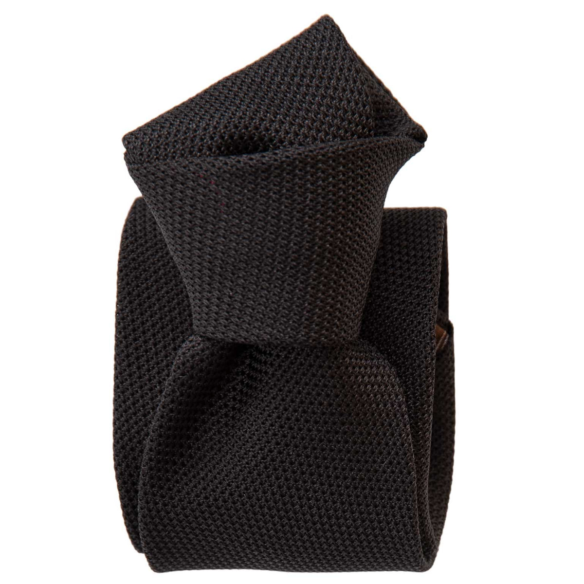 Mens Black Silk Grenadine Tie - Garza Fina