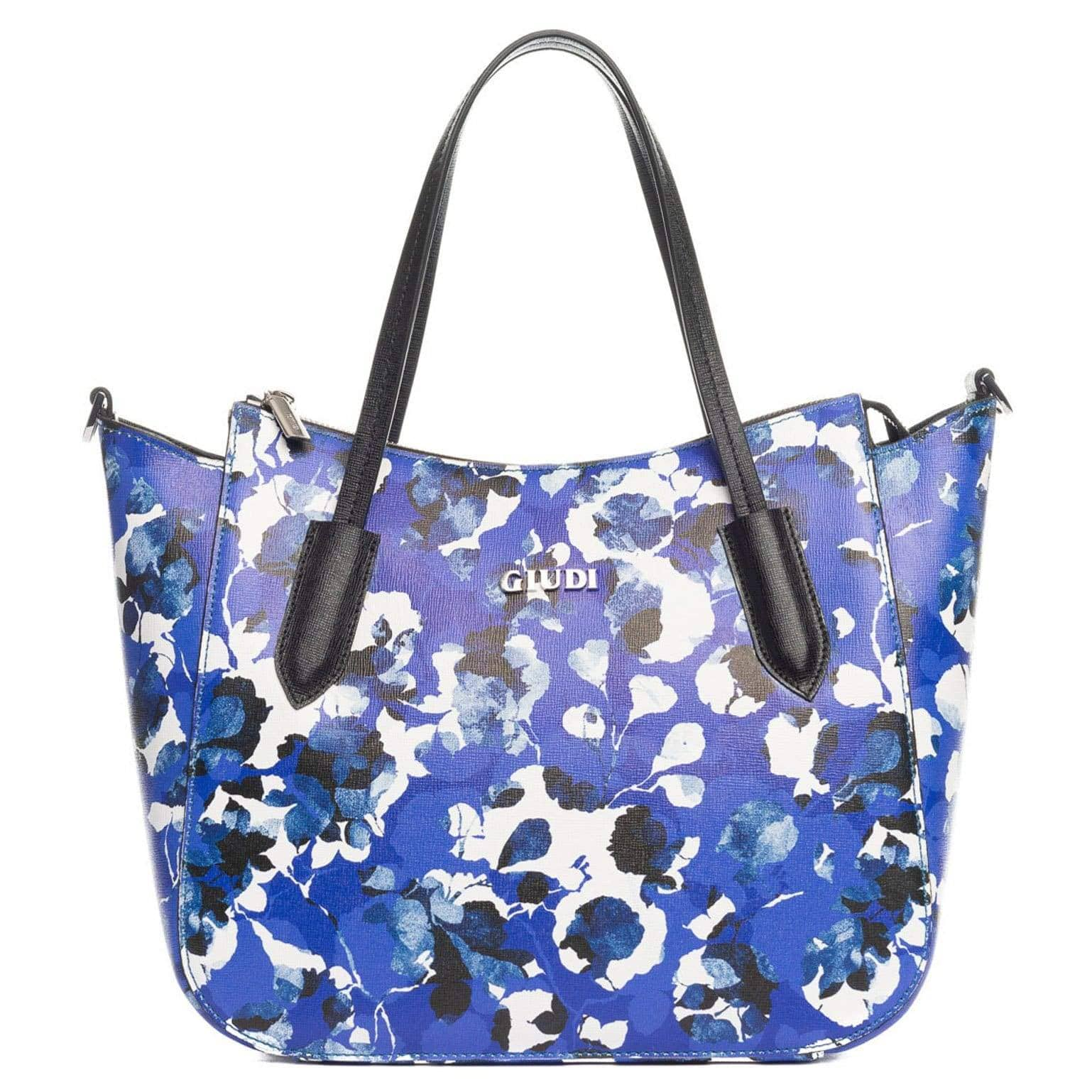 Floral Leather Handbag - Made in Italy - Handpainted