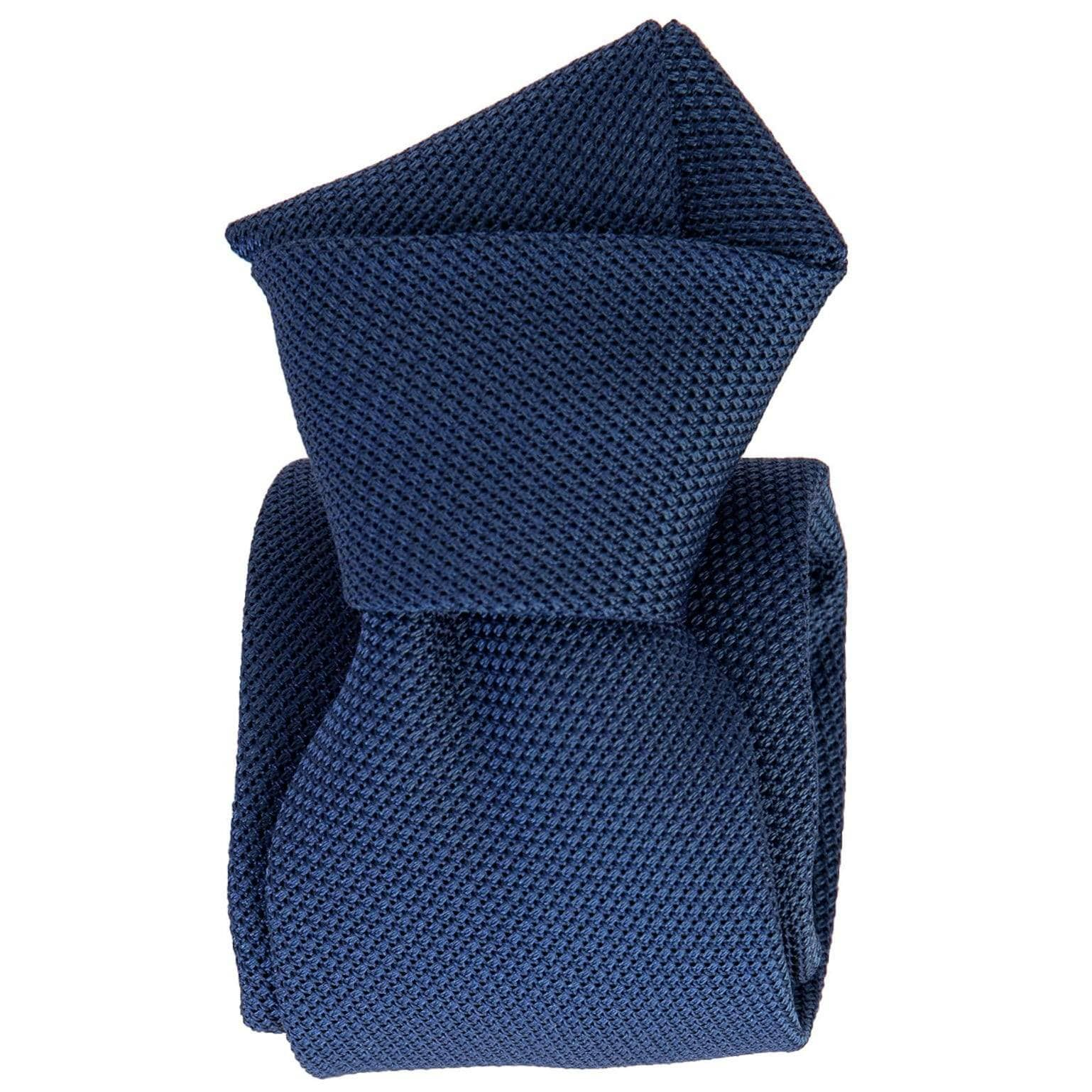 Blue Grenadine Tie - 100% Made in Italy - Garza Fina