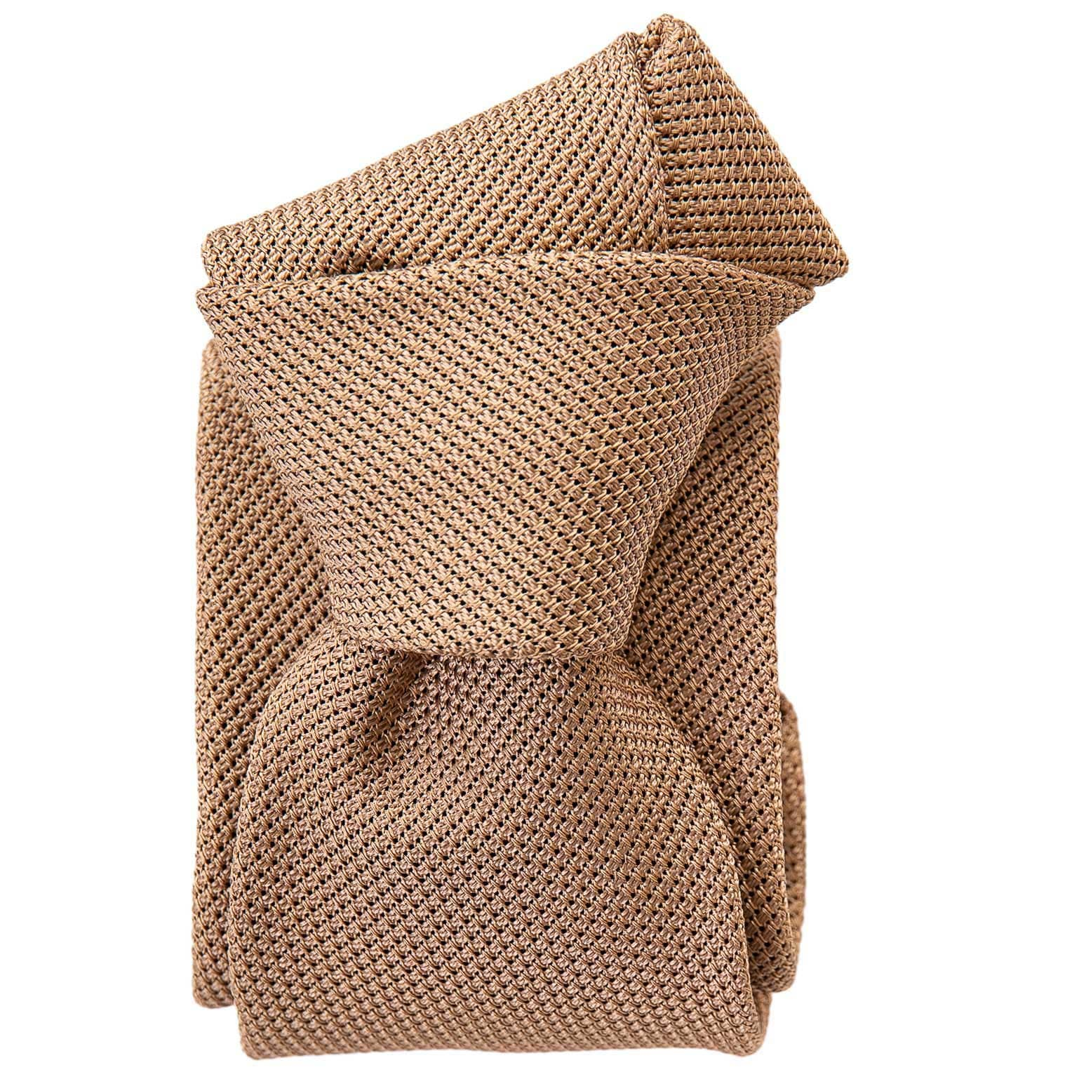 Silk Grenadine Tie - Camel - 100% Made in Italy