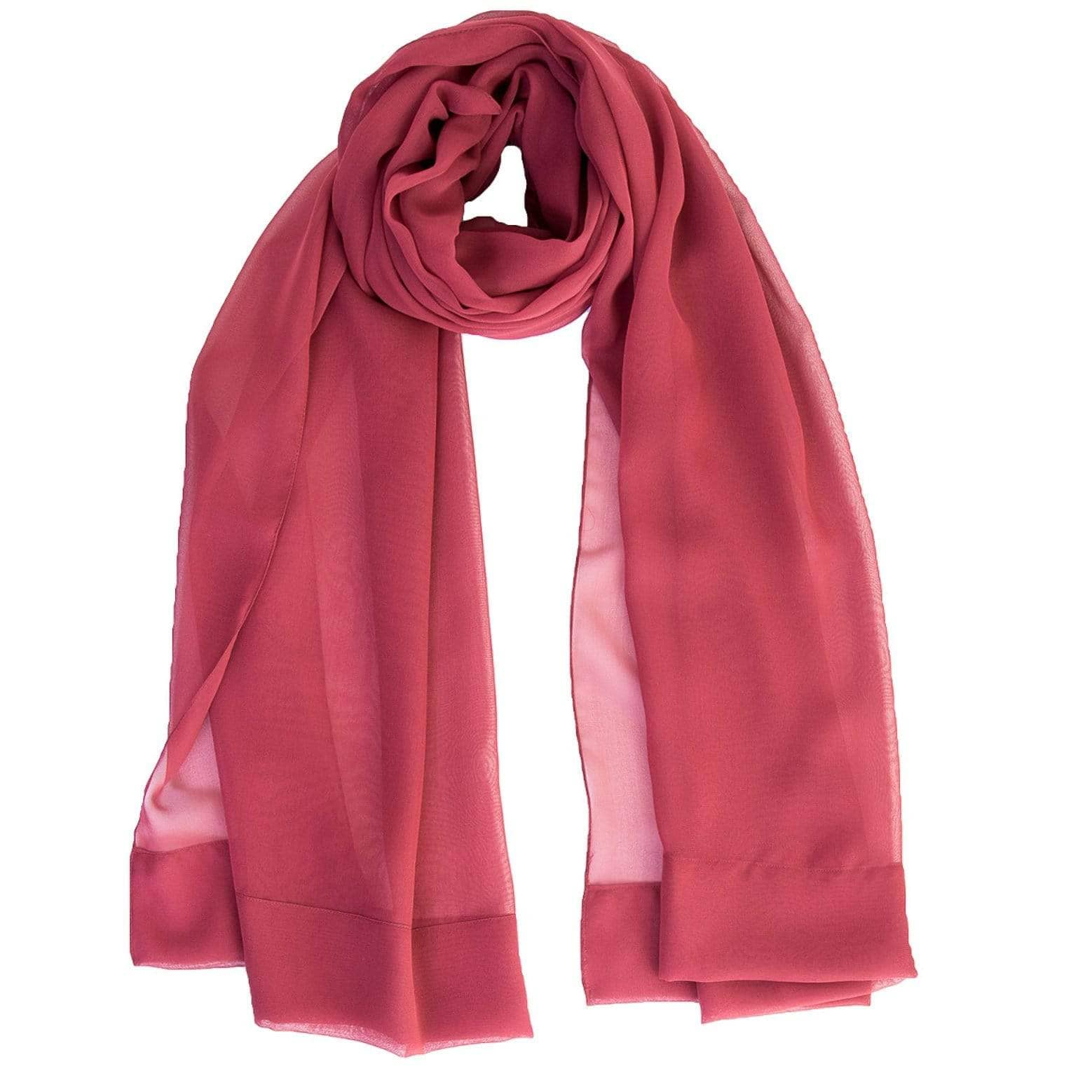 Burgundy Evening Wrap - Italian Sheer Silk Chiffon