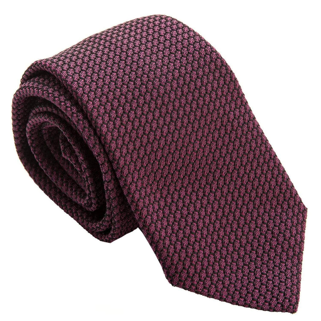 Burgundy Grenadine Tie - Extra Long - Made in Italy