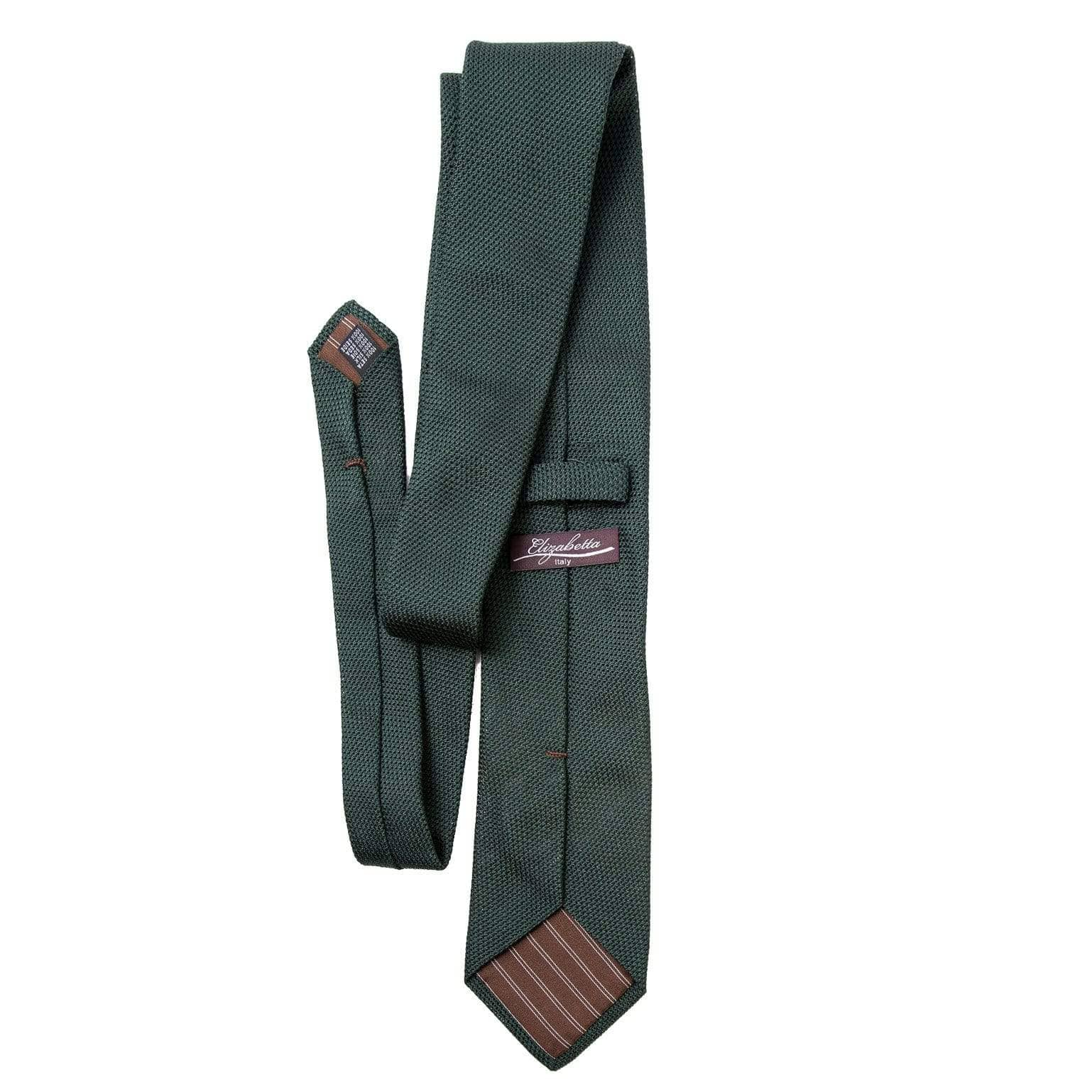 dark green silk garza fina tie