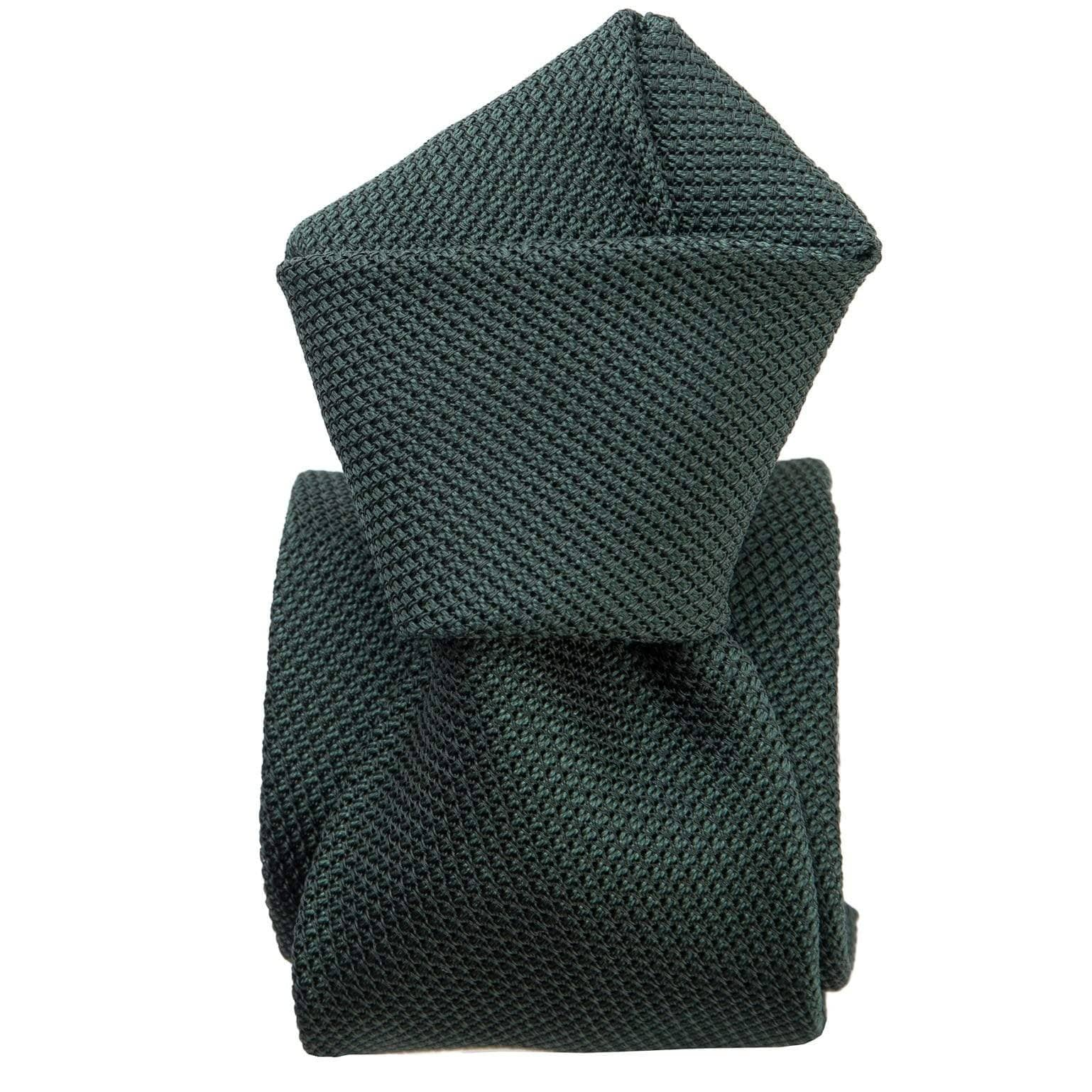 dark green silk grenadine tie