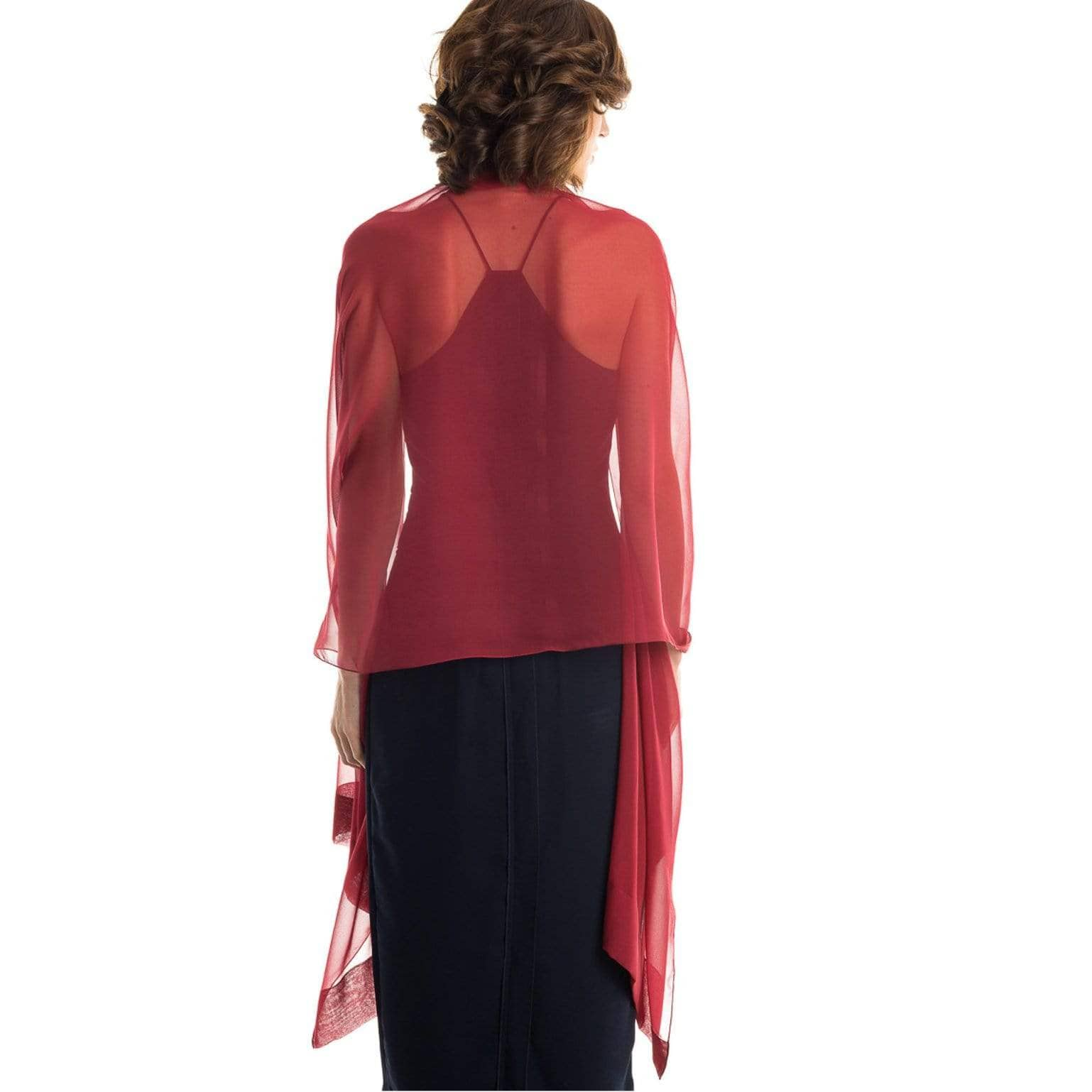 silk chiffon evening wrap