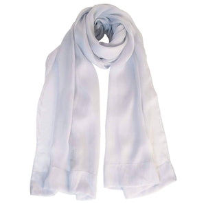 Silver Chiffon Wrap - Italian Silk Evening Shawl