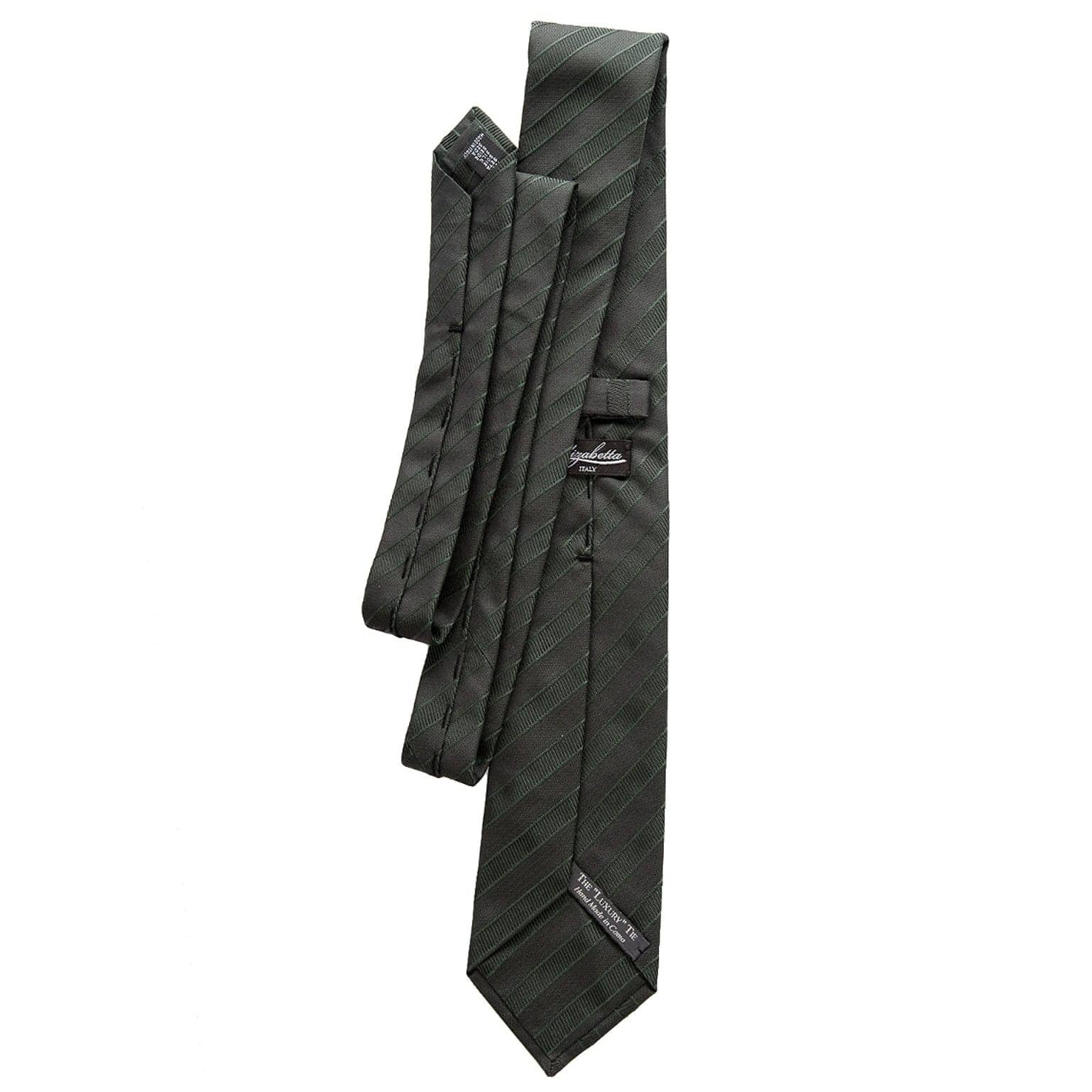 Extra Long Forest Green Tie - 3 Fold - Made in Italy
