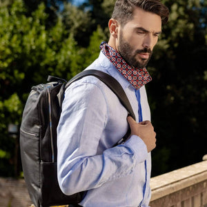 Mens Italian Leather Backpack - Handmade in Italy