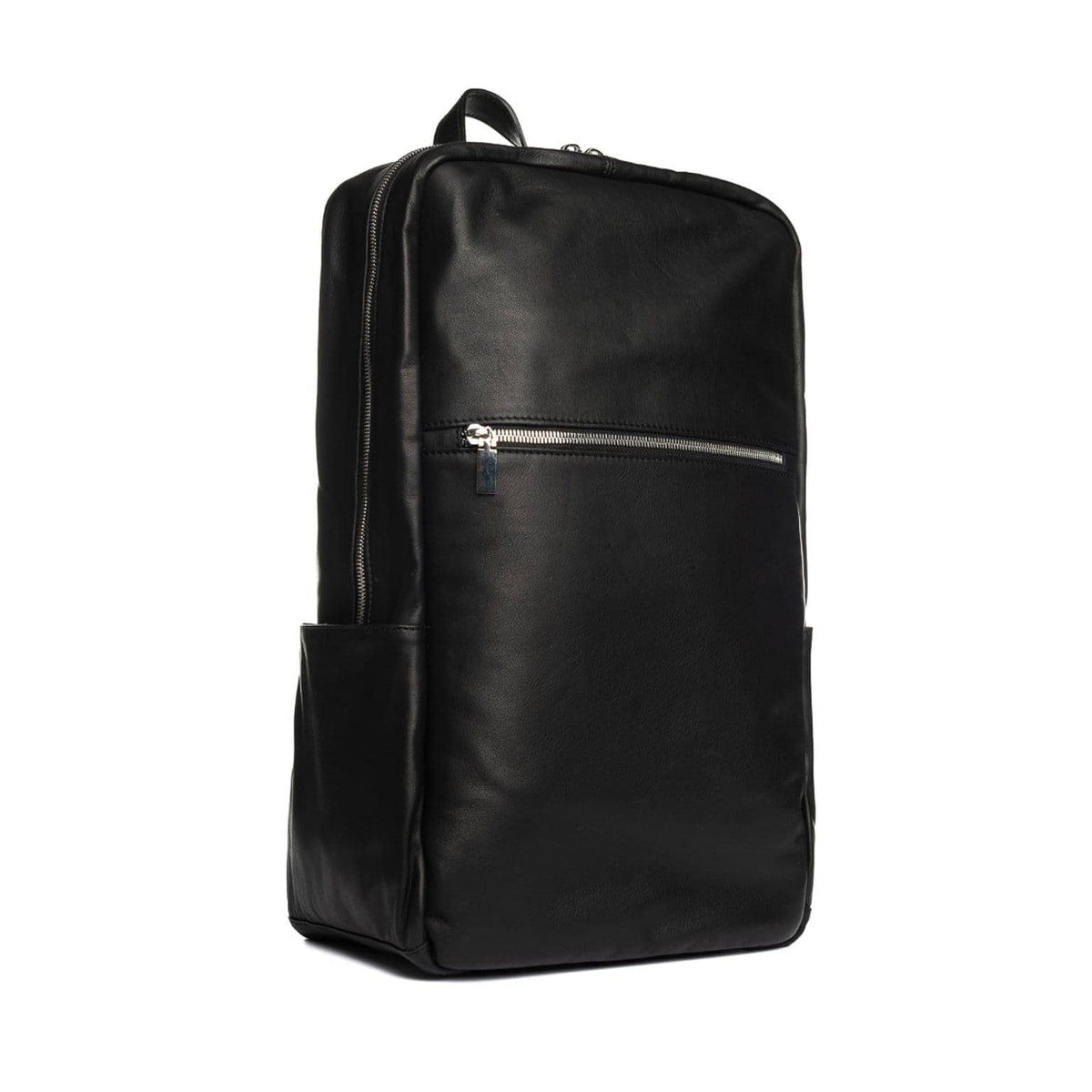 black leather rucksack mens