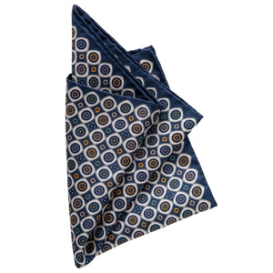 Orange and Blue Pocket Square - 100% Made in Italy