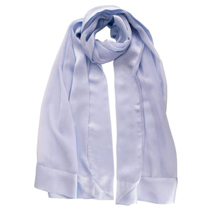 Silk Evening Shawl - Sheer Lilac with Satin Edging
