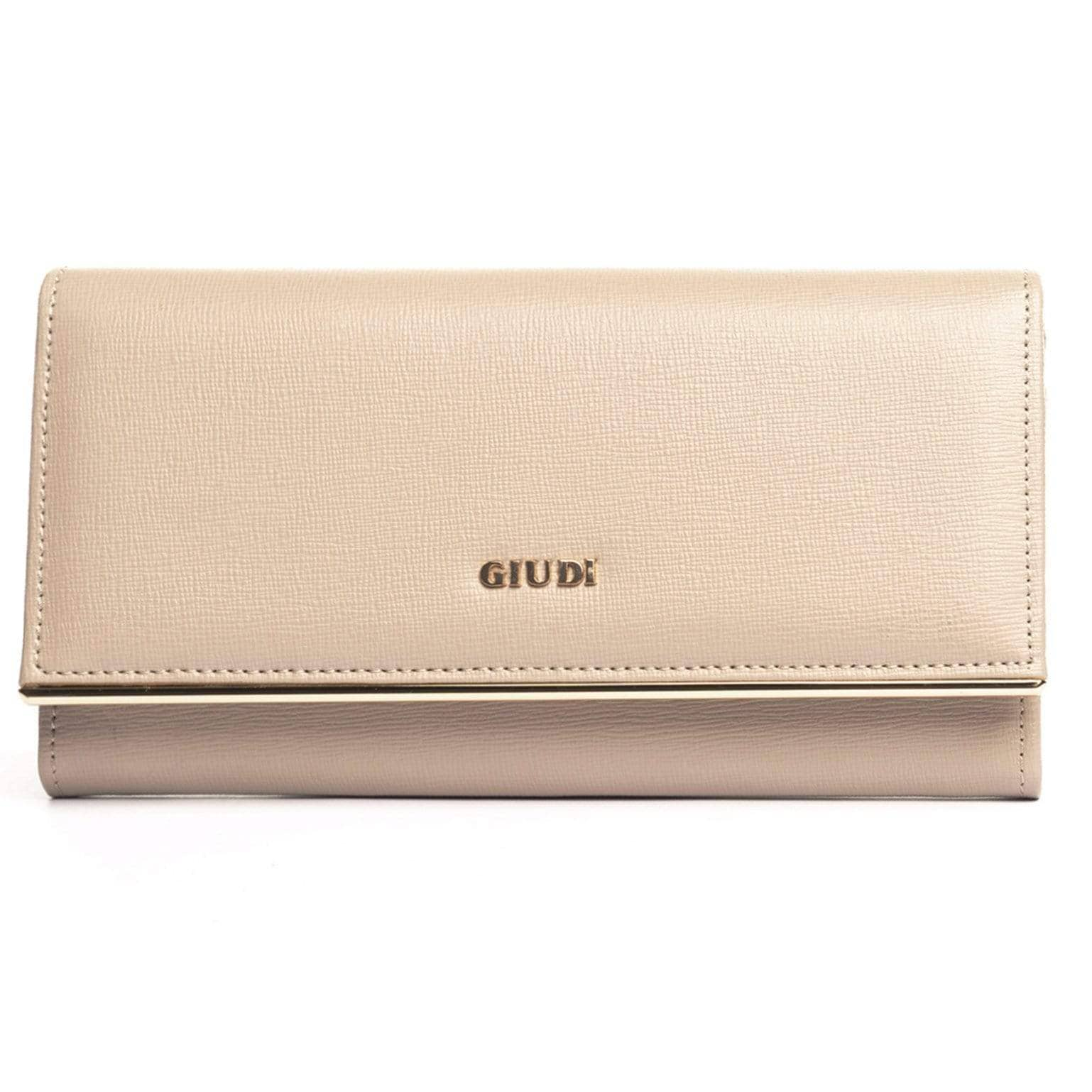 Taupe Leather Wallet - Womens - Made in Italy