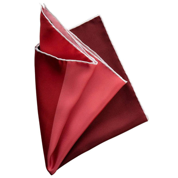 Hand Rolled Silk Pocket Square - 4 Shades of Red