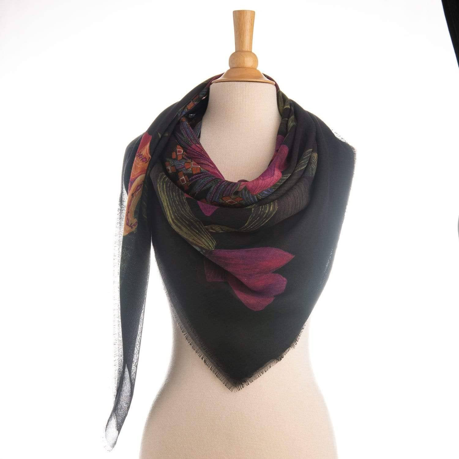 Made in Italy floral scarf
