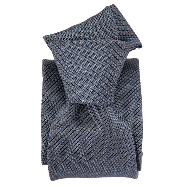Blue Grenadine Silk Tie - Handmade in Como Italy