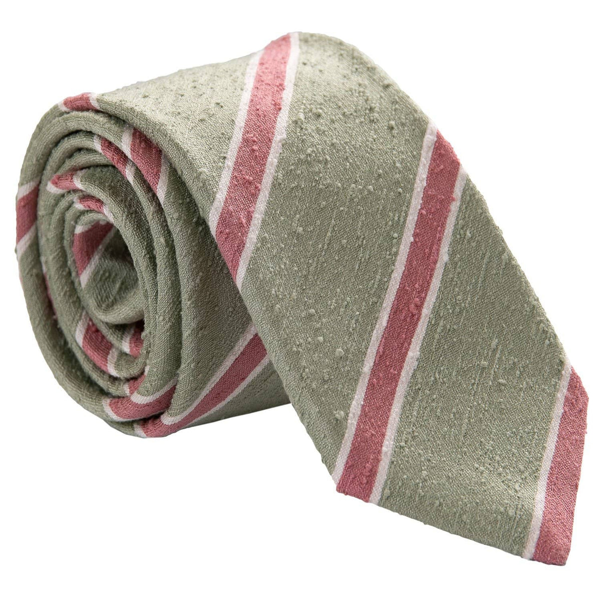 luxury light green shantung silk necktie