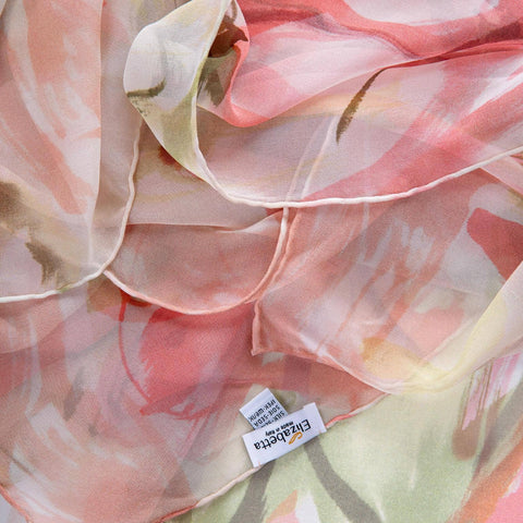 silk chiffon evening shawl
