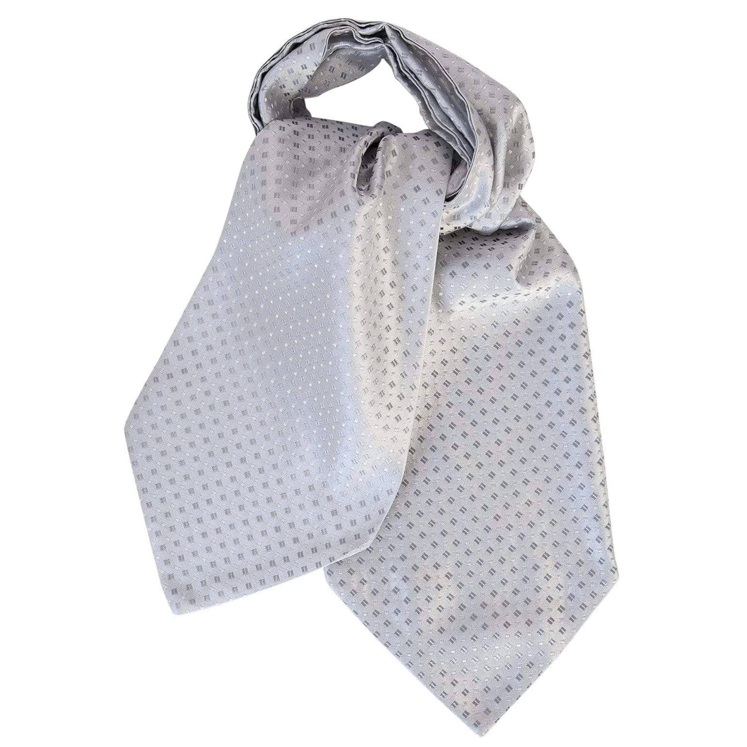thick grey silk wedding ascot cravat