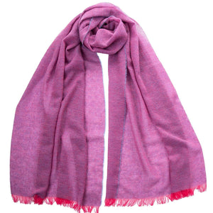 Pink Cashmere Scarf - Lightweight Wrap Made in Italy