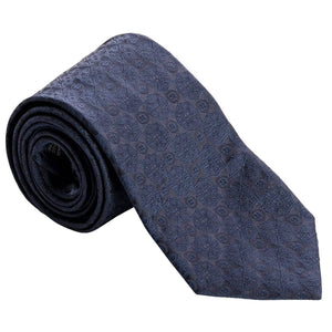 Extra Long Silk Tie - Midnight Blue - Made in Italy