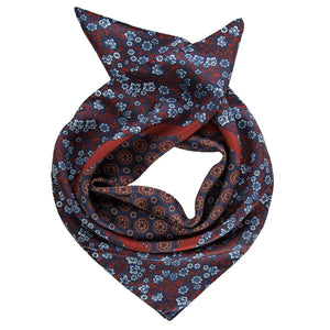 Mens Silk Neckerchief - Burgundy - Made in Italy
