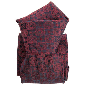 Mens Silk Tie - Formal Burgundy - 100% Made in Italy