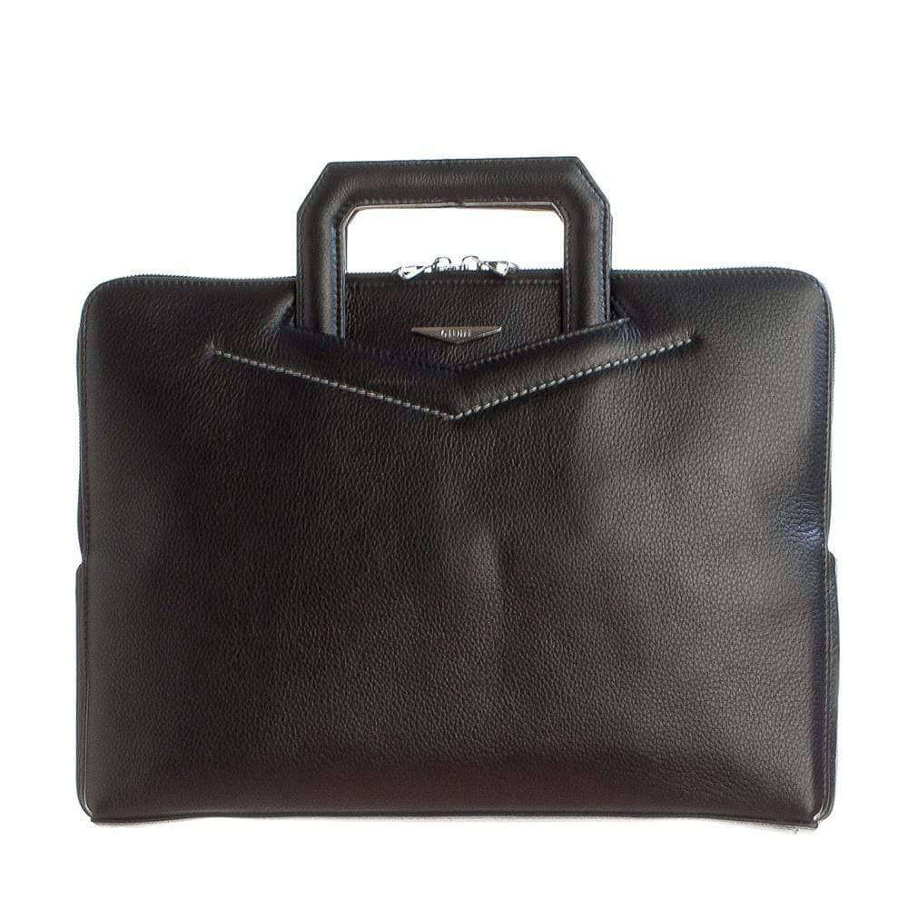 black leather attache case from Italy